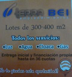 VENDO LOTES DE 300 Y 400 METROS CUADRADOS PERDRIEL